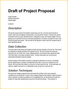 Project Proposal Sle Template Business Draft Rfp Template
