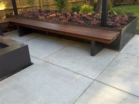 modern planter bench bench fire element planter and overhead