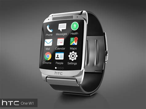 Smartwatch I One Htc One W1 Is A Smartwatch With Metallic Design Big Display Concept Phones