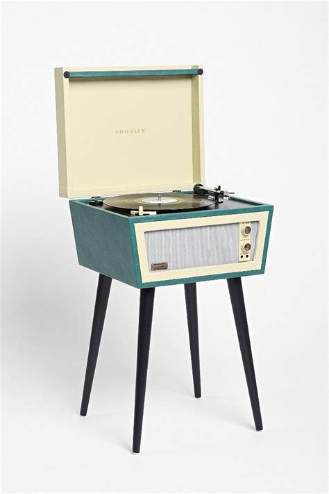 gestell vintage crosley x uo sterling vinyl record player