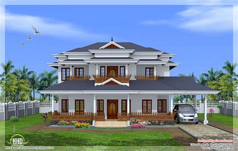 home style luxury 5 bedroom kerala style home design house design plans