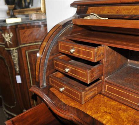 dresser with desk top louis xvi roll top desk walnut bureau plat furniture