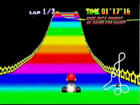 mario kart 64 rainbow road (time trial) youtube