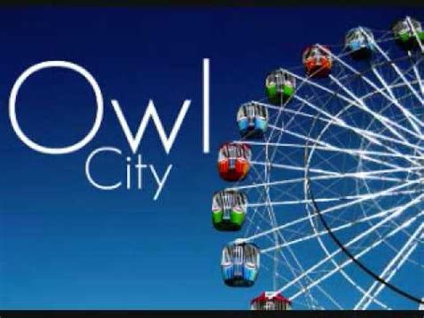 owl city light of owl city fuzzy blue lights w lyrics