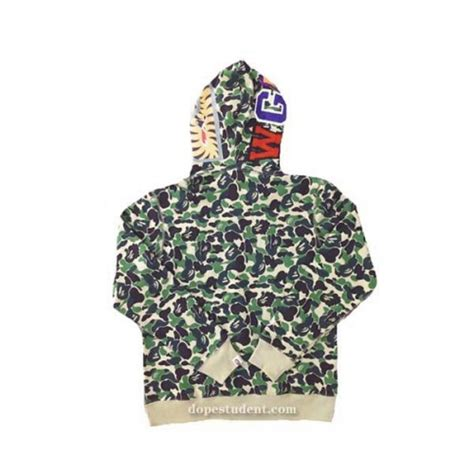 Jual Bape Hoodie Shark Green Camo Zip Tag Mirror Quality 1 1 bape nbhd collection ma 1 jacket dopestudent