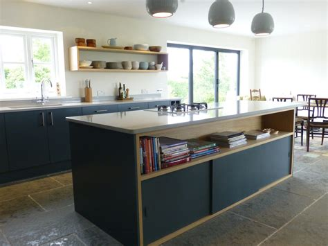 slate gray and oak bespoke kitchen by henderson