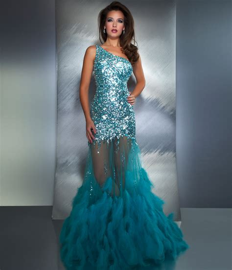 7 shiny sequined mermaid trumpet prom dresses bridal