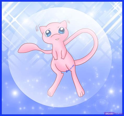 how to draw mew step by step pokemon characters anime