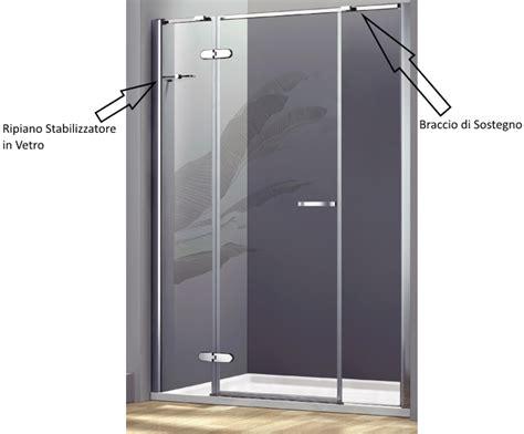 porta battente doccia box doccia porta a battente con 2 ante fisse cristallo 8 mm