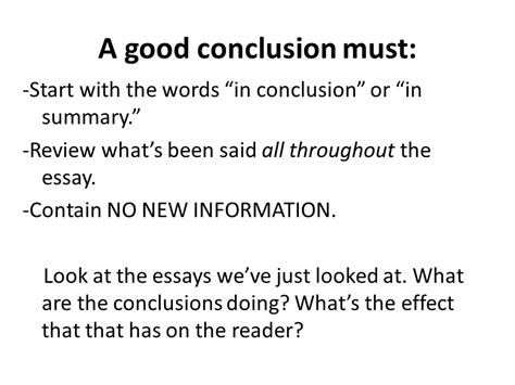 Summary Words For Essay by The Most Important Part Of Any Essay Ppt