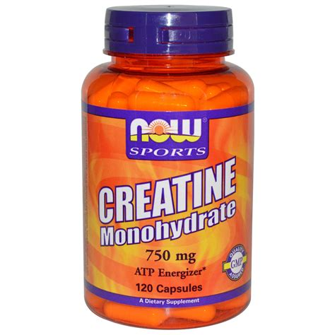s a n creatine monohydrate now foods sports creatine monohydrate 750 mg 120