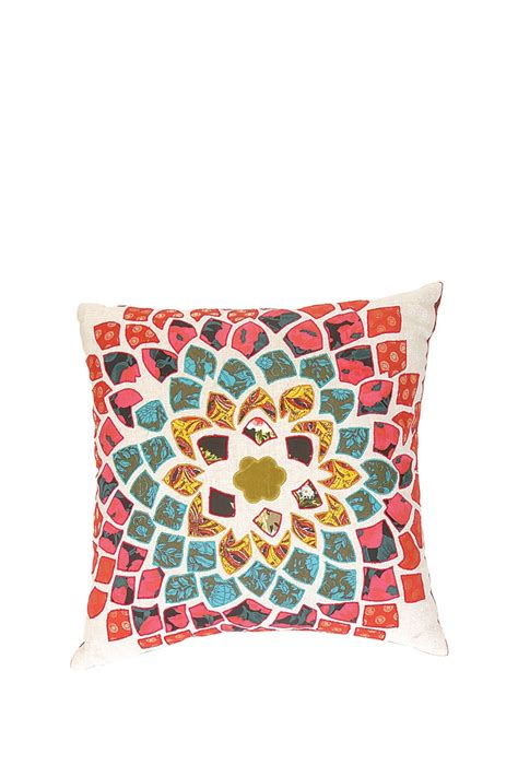 Karma Pillows by Karma Living Bohemian Flower Mantra Pillow