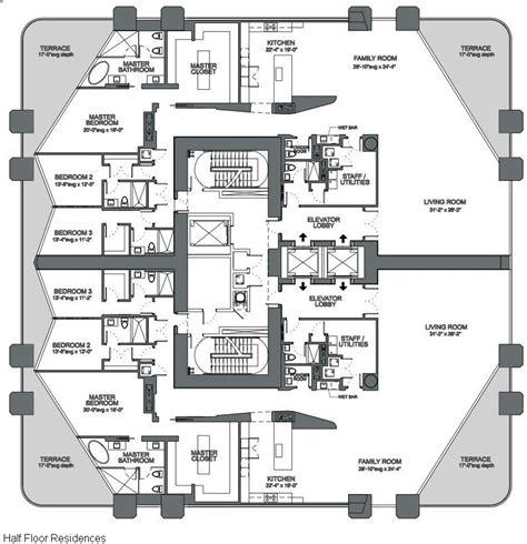 museum floor plans 1000 museum miami