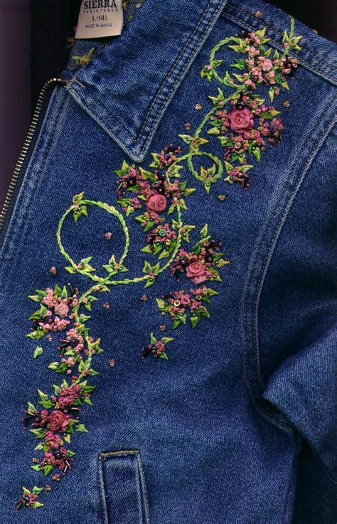embroidery denim 25 best ideas about embroidery on on