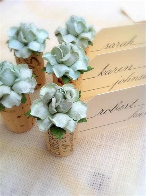1000 ideas about place card holders on pinterest favors succulent wedding place card holder by kara s vineyard wedding