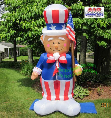 yard inflatables air blown sam with flag