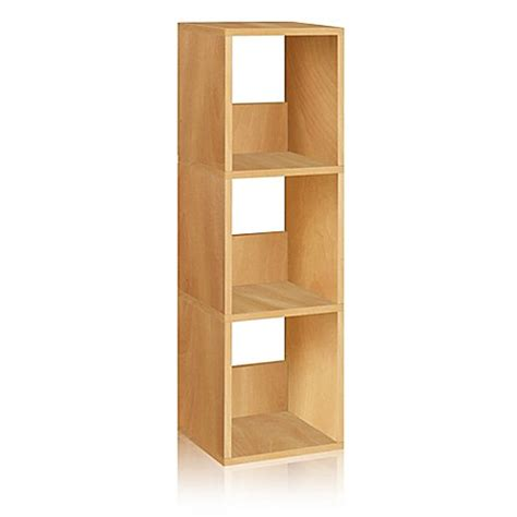 bed bath and beyond bookcase buy way basics 3 shelf trio narrow bookcase in natural