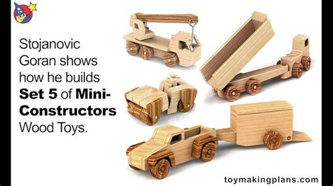 wood toy plans set  mini constructors youtube