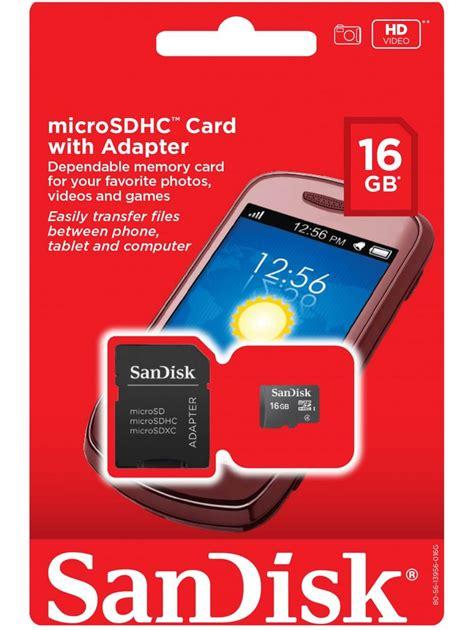 Memory Card Blackberry 16gb 16gb sandisk memory card sandisk microsdhc memory card