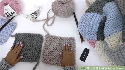 how to sew together knitting how to knit a patchwork blanket with pictures wikihow