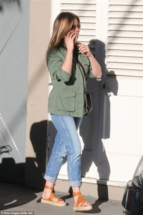 jennifer aniston casual jennifer aniston cuts a casual figure at chic la boutique