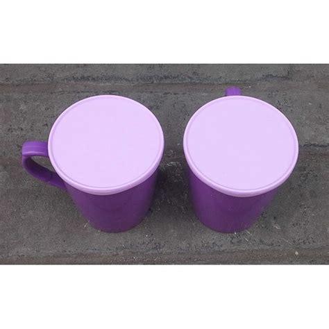 Parfum Gatsby Warna Ungu jual gelas tutup atau mug plastik warna ungu golden