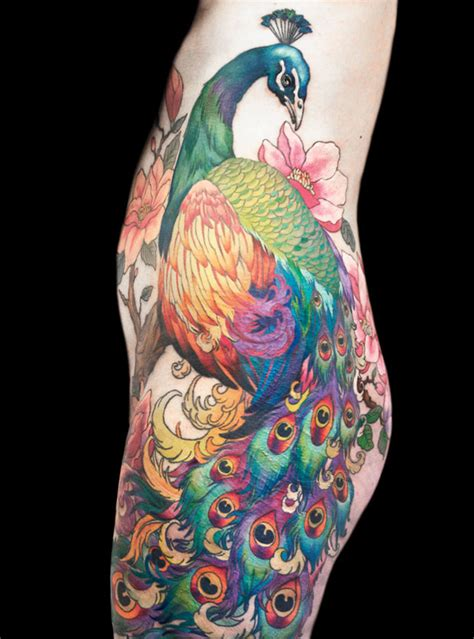 peacock sleeve tattoo designs peacock tattoos