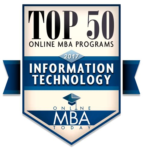 Mba Degree Information by Top 50 Mba Programs In Information Technology