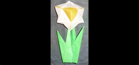 Origami For Intermediates - easy origami daffodil comot
