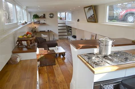 Small Floor Plans For Houses Amsterdam Houseboat Tiny House Swoon
