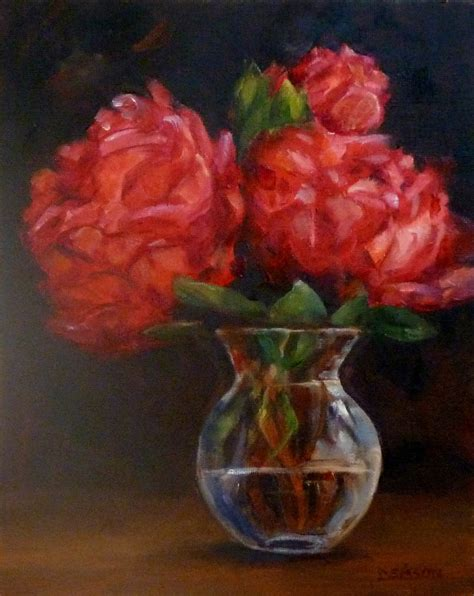 peonies in vase daily painting projects peonies in bud vase still