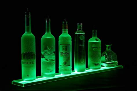 armana acrylic new 34 quot led lighted bar shelves 2 10