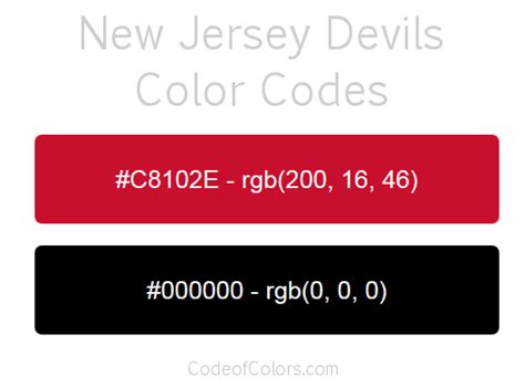 new jersey colors new jersey devils colors hex and rgb color codes
