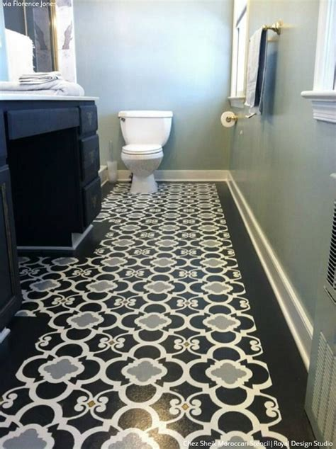 best 25 stenciled floor ideas on stenciled