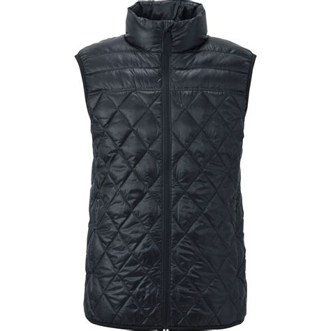 Thin Quilted Vest by Uniqlo Ultra Light Quilted Vest In Black For