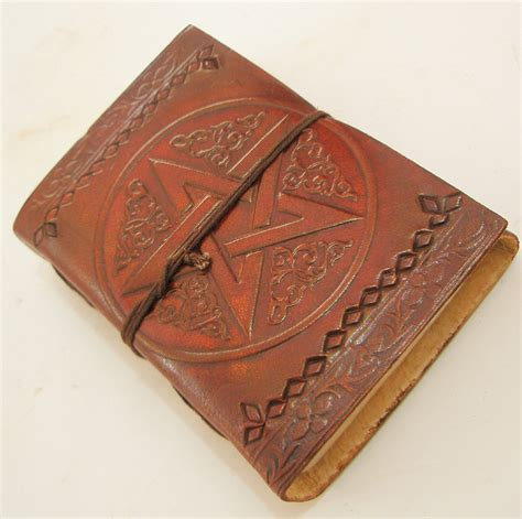 Handmade Leather Bound Books - handmade leather bound journal blank diary celtic
