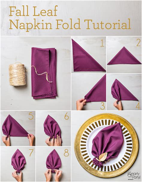 Folding Paper Napkins With Ribbon - fall leaf napkin fold tutorial fall leaves napkins and