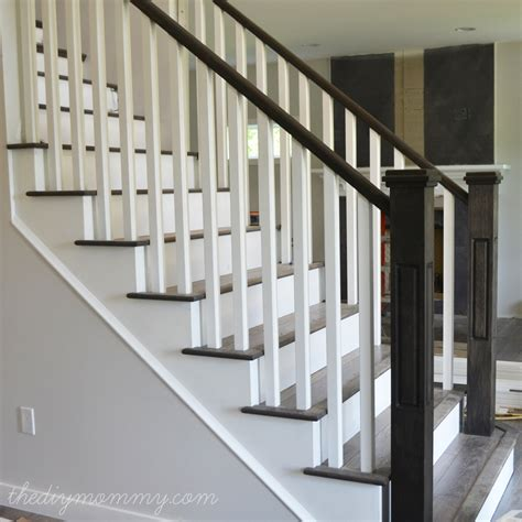 stairway banister ideas finishing our stair railings more peeks at our almost