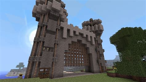 Minecraft Castle Door david s castle gate minecraft project