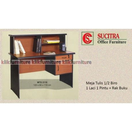 Meja Kantor Meja Kerja 12 Biro Laci Pintu Murah Grosir Print Mt 129 mts 2118 sucitra meja tulis kantor 1 2 biro agen termurah