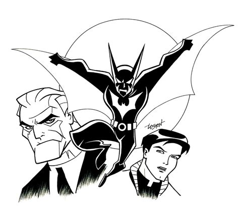 coloring pages of batman beyond batman beyond by lostonwallace on deviantart