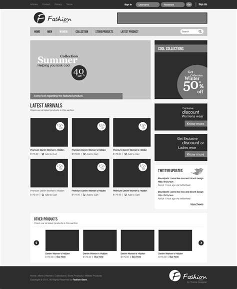 tutorial web e commerce design a clean e commerce website interface in photoshop
