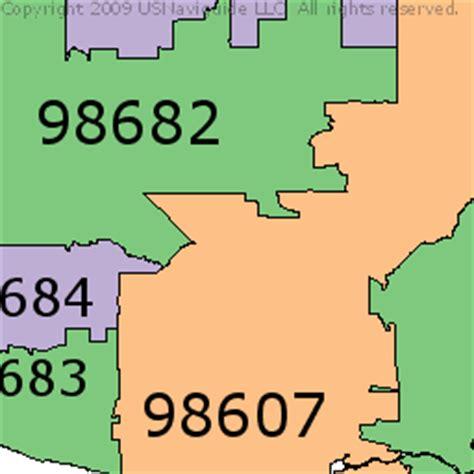 zip code maps vancouver wa zip code vancouver washington map
