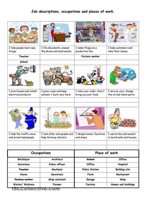 job descriptions occupations  places  work english teacher jobs job description resume