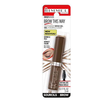 Clear Brow Gel 3ml 0 1oz compare miscellaneous rimmel brow this way eyebrow gel