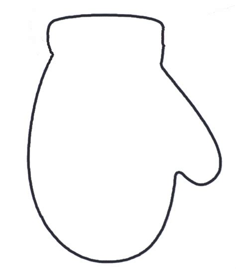 mitten outline template