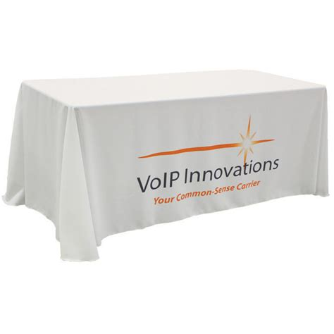 table drape with logo 6 foot custom white drapedtable cloth with logo