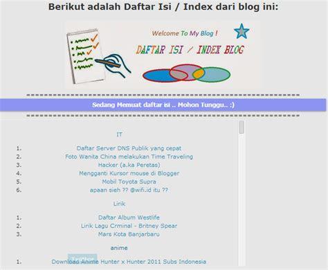 cara membuat daftar isi novel membuat daftar isi blogger otomatis choutib th3 jookam 313