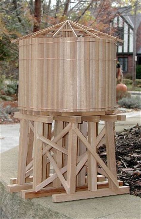 backyard water tower garden railway water tower project