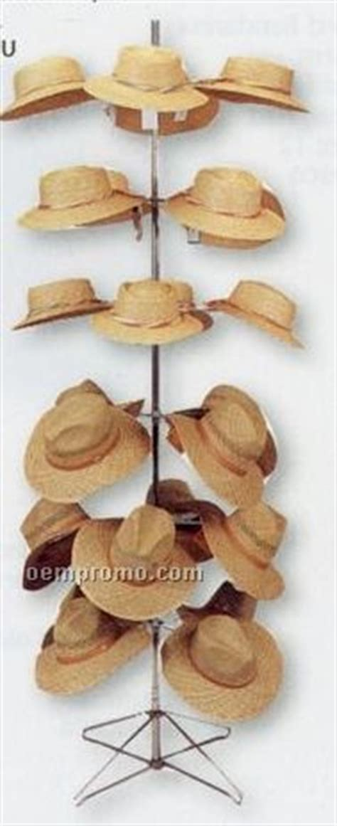 promotional quality revolving floor hat display rack holds